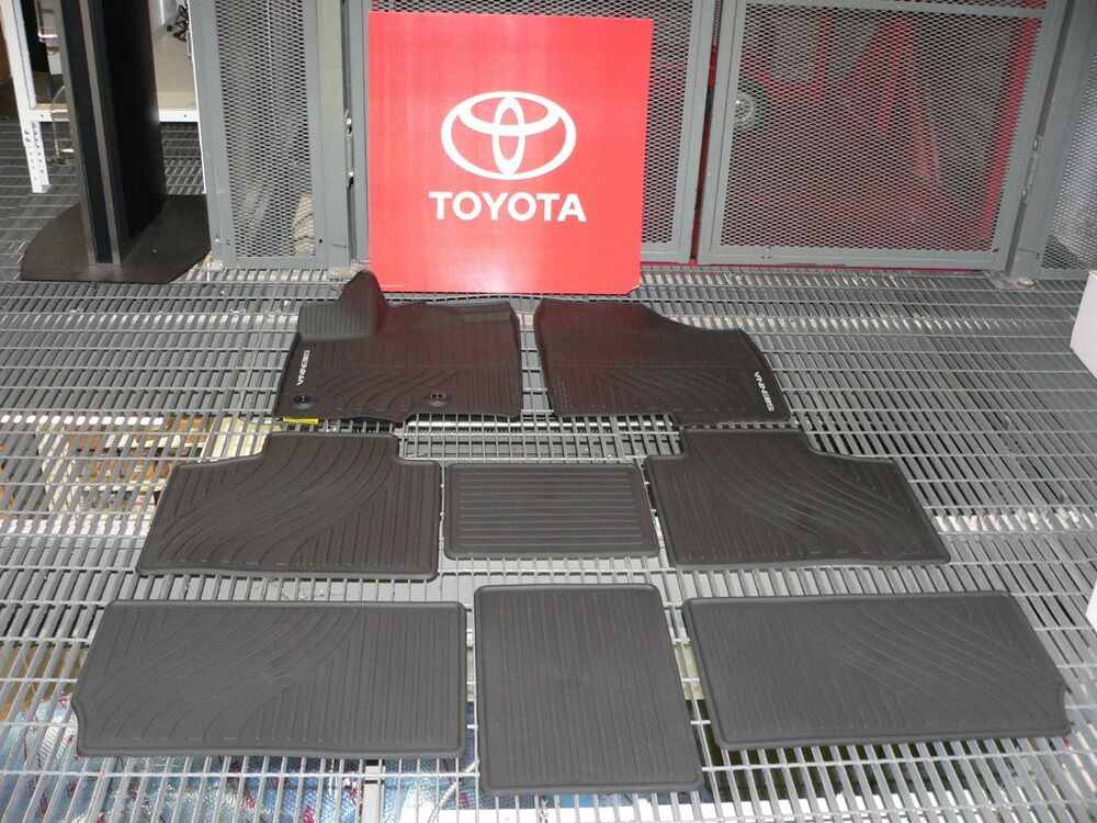 Weather Mats For Your Car >> OEM TOYOTA SIENNA ALL WEATHER FLOOR LINERS PT908-08170-02 | eBay