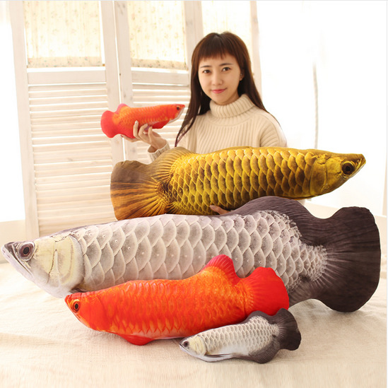 Plush Toy Stuffed Doll 3d Pattern Arowana Golden Dragon
