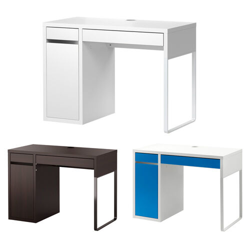 ikea micke desk drawer computer desk home office workstation 2 colours ebay. Black Bedroom Furniture Sets. Home Design Ideas