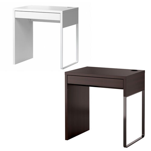 ikea new micke desk drawer computer desk home office workstation 2 colours ebay. Black Bedroom Furniture Sets. Home Design Ideas