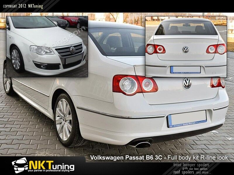 volkswagen passat b6 3c full body kit r line look. Black Bedroom Furniture Sets. Home Design Ideas