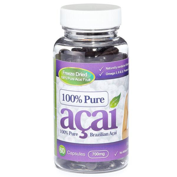 100% Pure Acai Berry 700mg 60 Capsules Weight Loss Pills Evolution Slimming