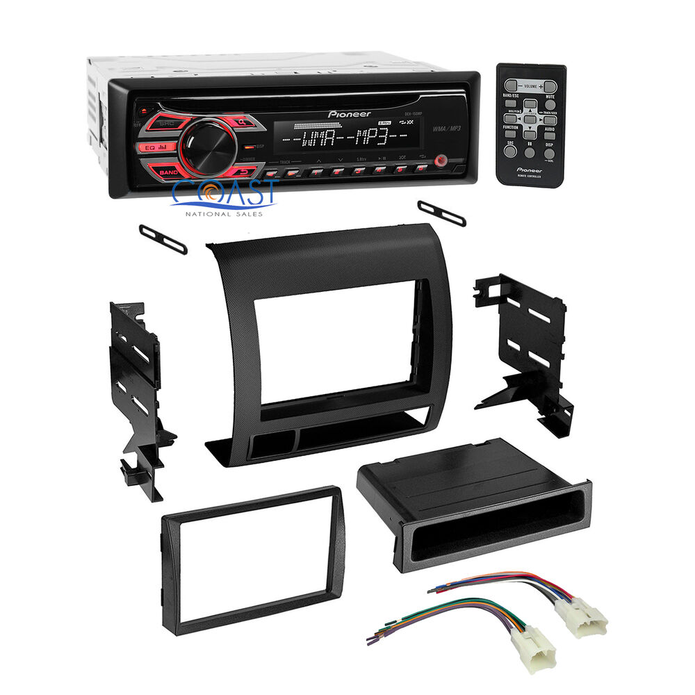 pioneer car single din radio stereo dash kit harness for