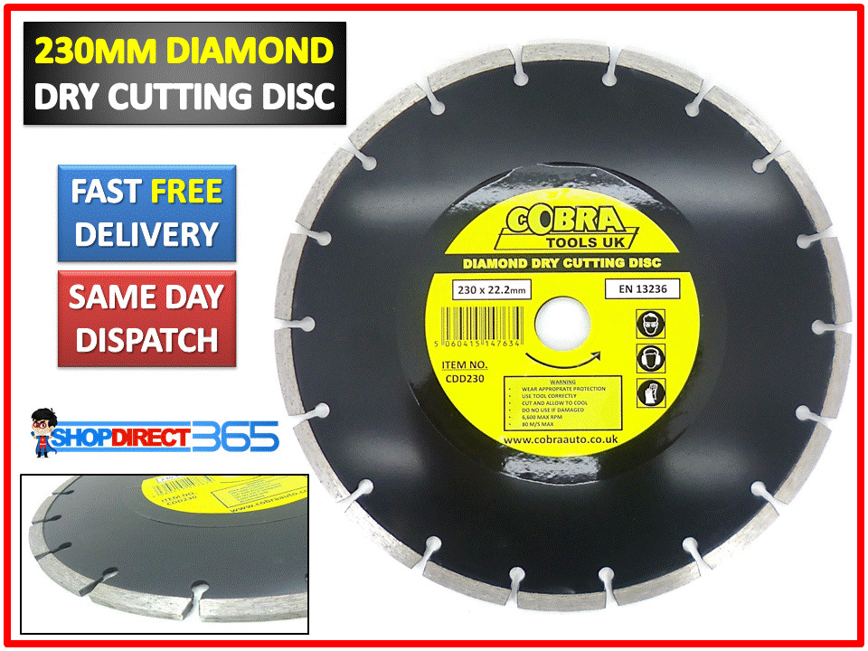 9 Quot 230mm Diamond Dry Cutting Disc Angle Grinder Saw Blade