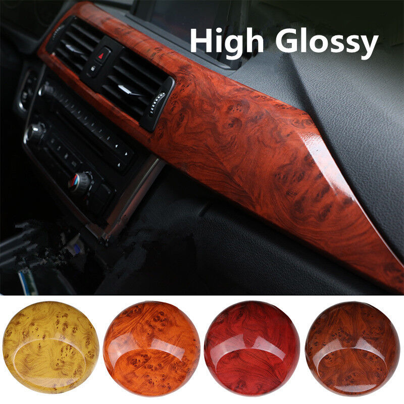 glossy wood grain texture car rv boat interior vinyl wrap sticker decal 4 types ebay. Black Bedroom Furniture Sets. Home Design Ideas