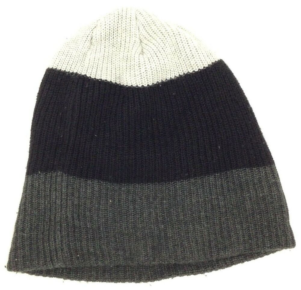 aafe658c2a0eb Details about  106 BLOOMINGDALE S Mens UNISEX BLACK KNIT WARM WINTER HAT CAP  BEANIE ONE SIZE
