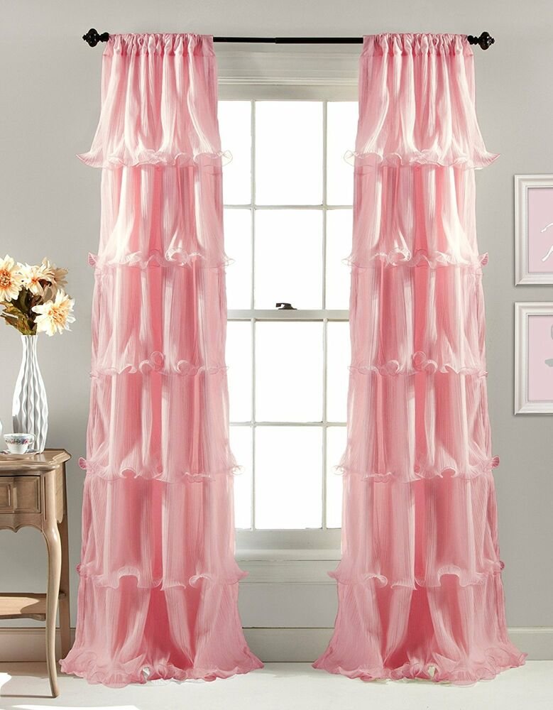 Nerina Window Curtain 84 By 54 Inch Lush Decor Pink Drapes