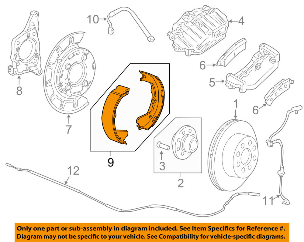 details about gm oem parking brake-shoes 23458645