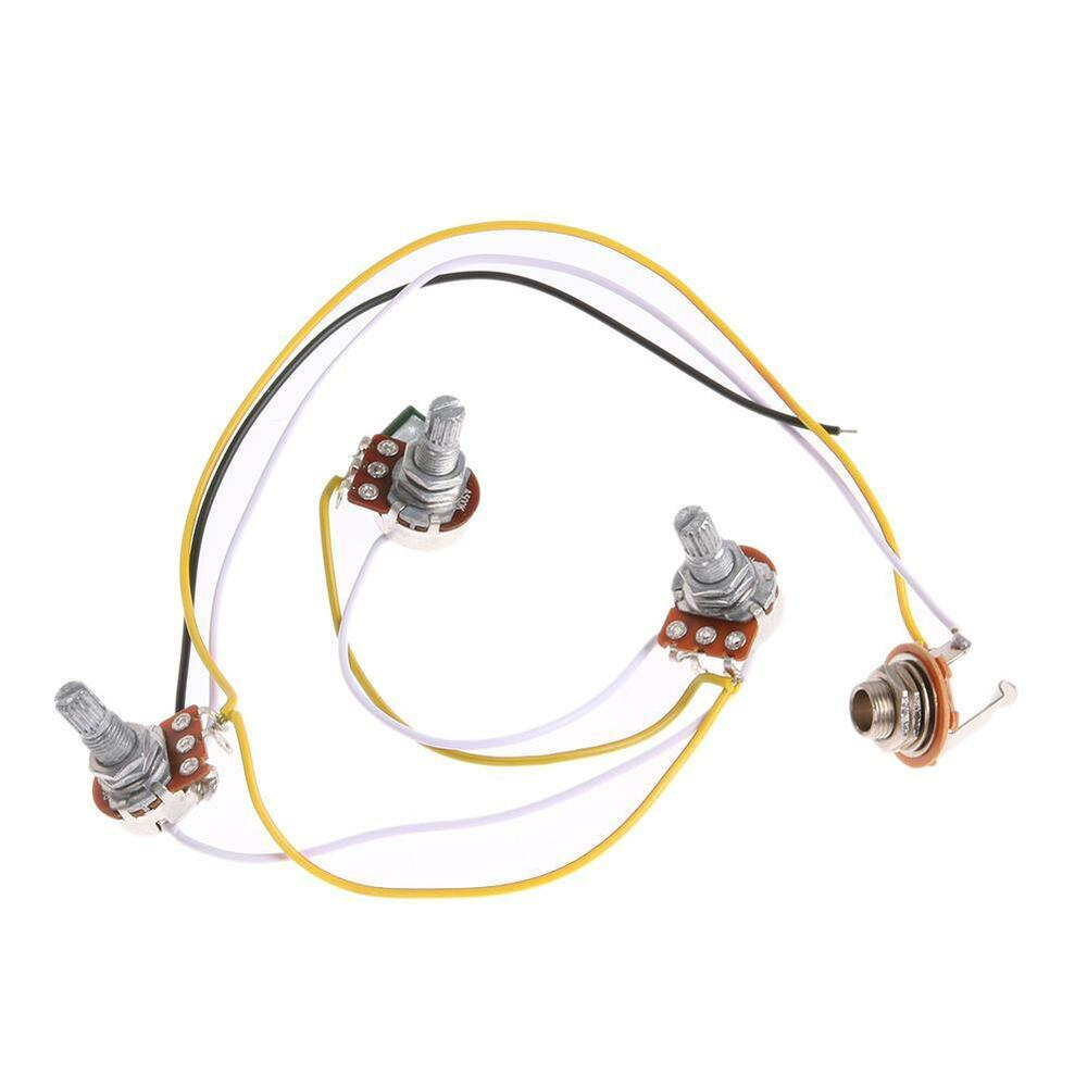 1 set wiring harness prewired 2v1t1j for jb bass guitar with 3 500k pots new ebay. Black Bedroom Furniture Sets. Home Design Ideas