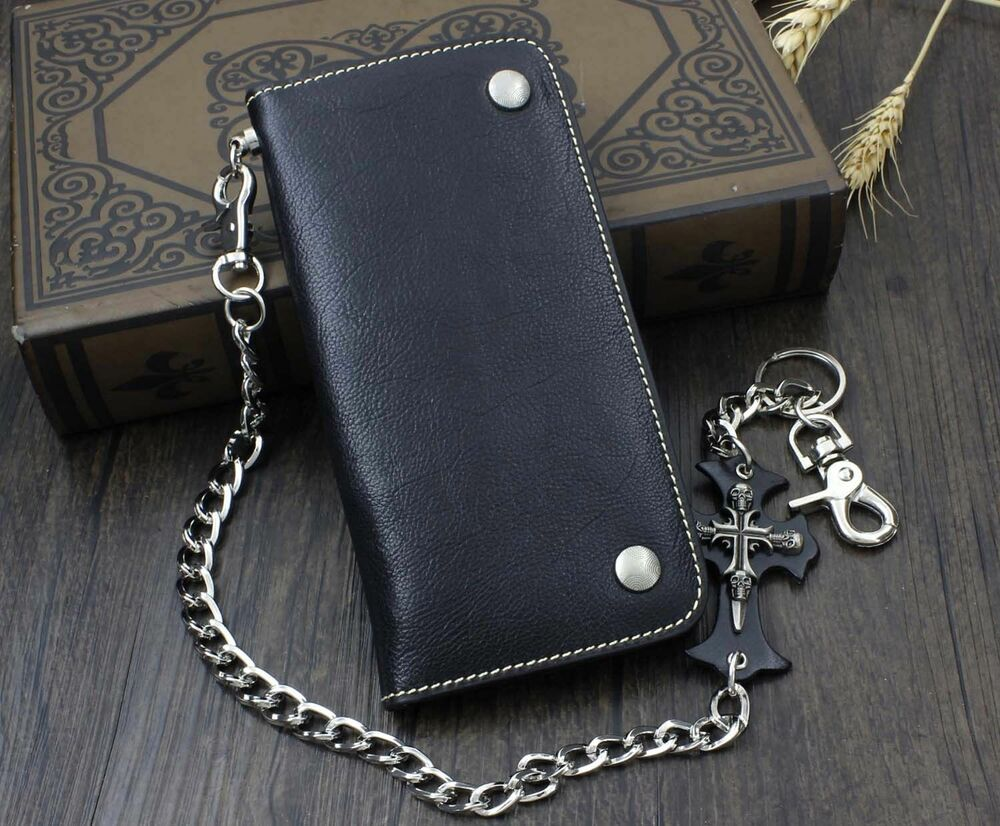 ac827a76994a Men's Wallets With Chain. Guntwo Korean Mens Fashion Wallet Chains - Biker  ...