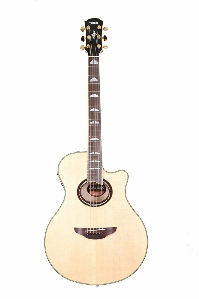 Musical Instruments & Gear New Yamaha Electric Acoustic Guitar Apx1000 Natural Nt Apx-1000
