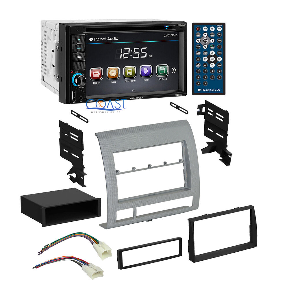 planet audio car bluetooth stereo dash kit harness for