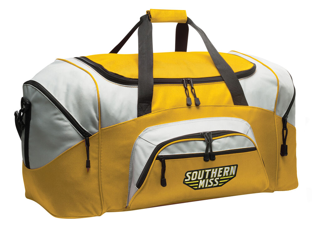 b0cbb834d5 Details about Large Southern Miss Duffel Bag BEST USM Golden Eagles Travel  Bags