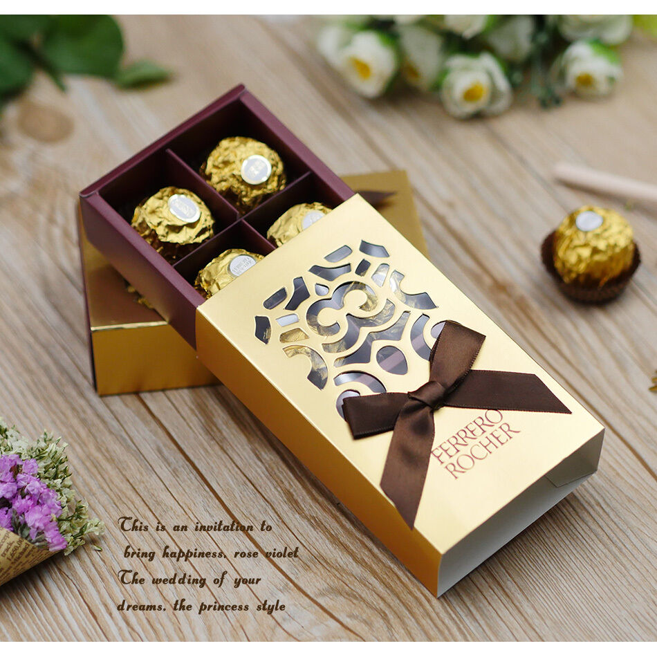 Wedding Favor Boxes: 100pieces FERRERO ROCHER Candy Boxes Wedding Favor Bridal