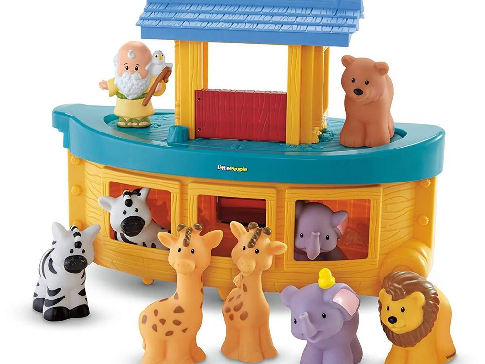 fisher price little people noah 39 s ark gift set with 9 figures ebay. Black Bedroom Furniture Sets. Home Design Ideas