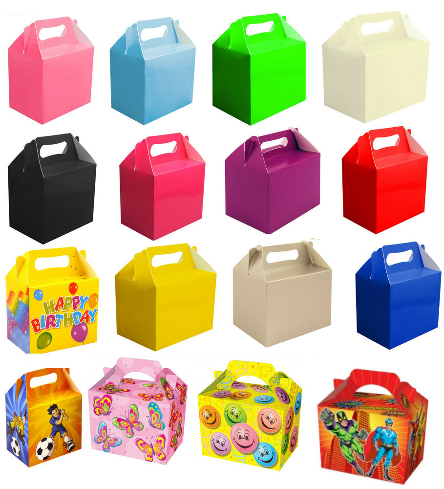 Childrens Kids Party Lunch Boxes Takeaway Birthday Wedding Food Meal Boxs