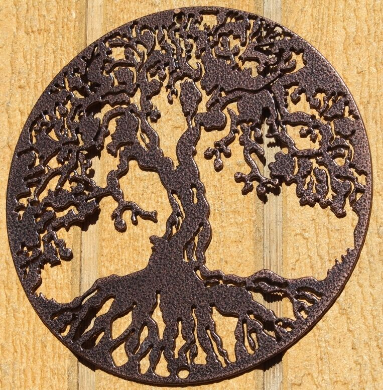 Tree Of Life Metal Wall Art Home Decor Copper Vein Ebay