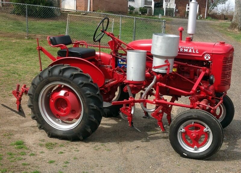 Ih Cultivator Parts : Super a red farmall tractor with new tires cultivator and