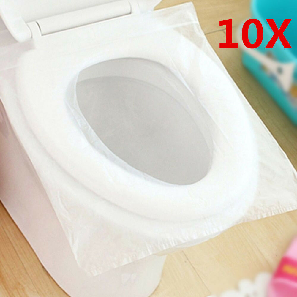 10x Disposable Paper Toilet Seat Cover For Camping Travel