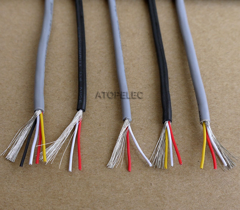 5m ul2547 pvc 2/3/4-cores shielded signal wire headphone ... headphone wiring 4 wires