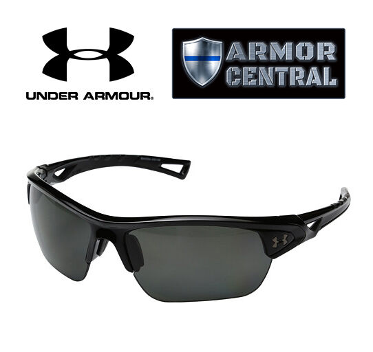 96b70f8b972 Details about NEW Under Armour Octane Sunglasses - Shiny Black Frames -  Gray Polarized Lens