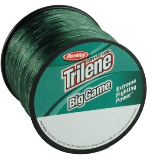 Berkley trilene big game 40 lb tested 370 yards green for 30 lb fishing line