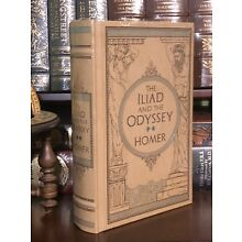 THE ILIAD AND THE ODYSSEY by HOMER- LEATHERBOUND CLASSIC & BRAND NEW!