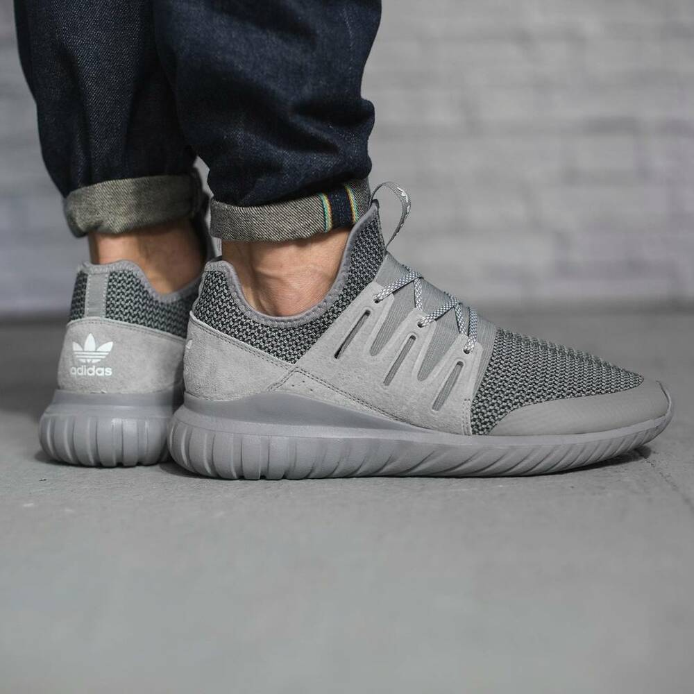 finest selection 53ed1 24f16 Details about ADIDAS ORIGINALS TUBULAR RADIAL CHARCOAL SOLID GREY MEN S  SNEAKERS S76718 SZ 11