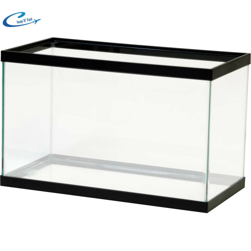 Empty aquarium 10 gallon clear fish tank aqua culture for 10 gallon fish tanks