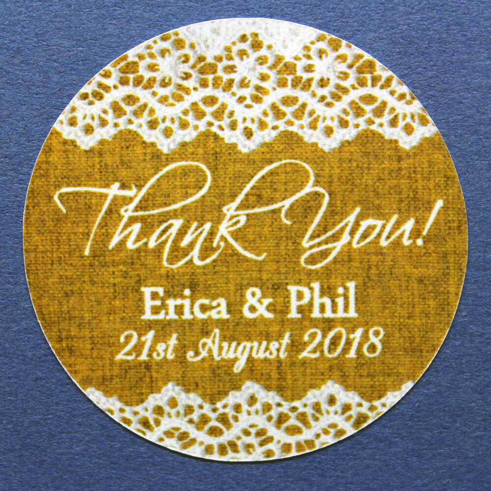 Details about 35mm 45mm custom round personalised thank you wedding labels stickers 011