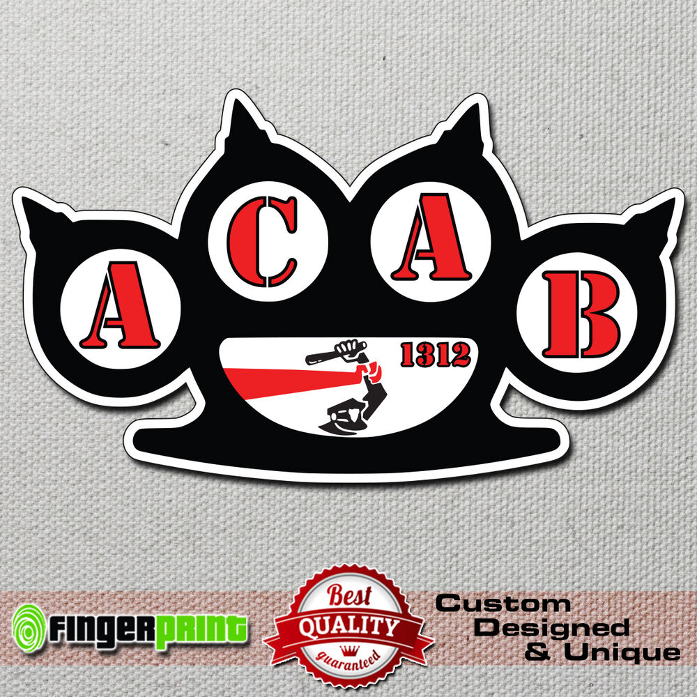 Details about acab 1312 sticker decal vinyl bumper hools hooligans police cops fight ultras