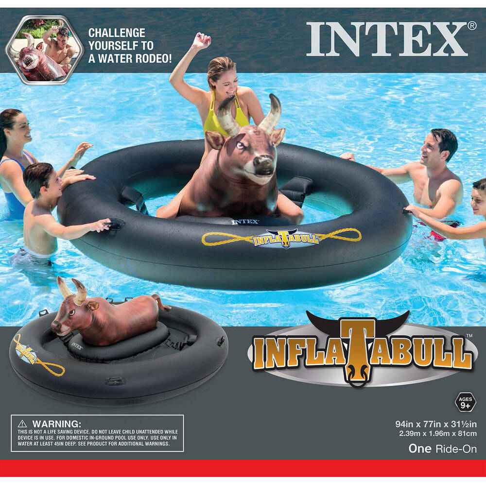 Inflatabull Giant Bull Riding Inflatable Swimming Pool
