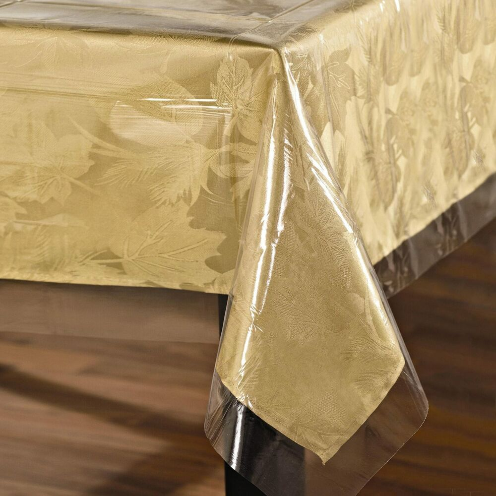 Super Clear Table Cloth Cover Protects Fabrics Heavyweight
