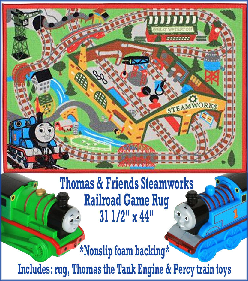 New Thomas Amp Friends Steamworks Railroad Game Rug W