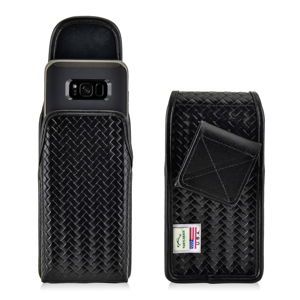 Galaxy S8 Police Pouch Rotating Belt Clip Case Basketweave Leather Turtleback Ebay