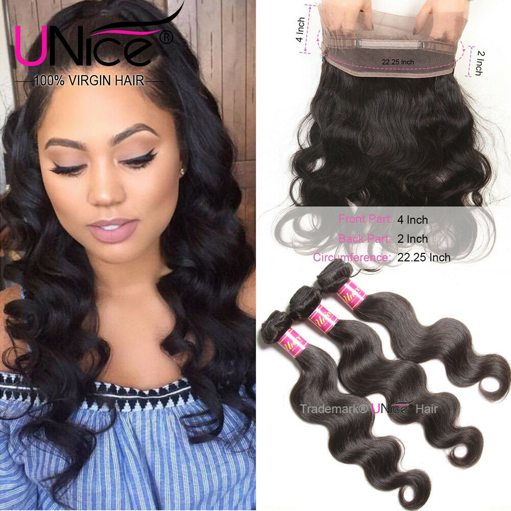 Unice Hair Peruvian Body Wave Human Hair 3 Bundles With