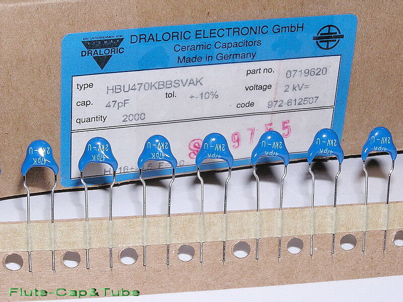 10pcs Vishay Draloric 47pf 2000v Low Loss Ceramic