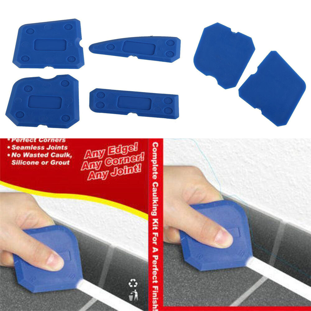4pcs joint sealant silicone grout caulk tool set remover scraper applicator kits ebay. Black Bedroom Furniture Sets. Home Design Ideas