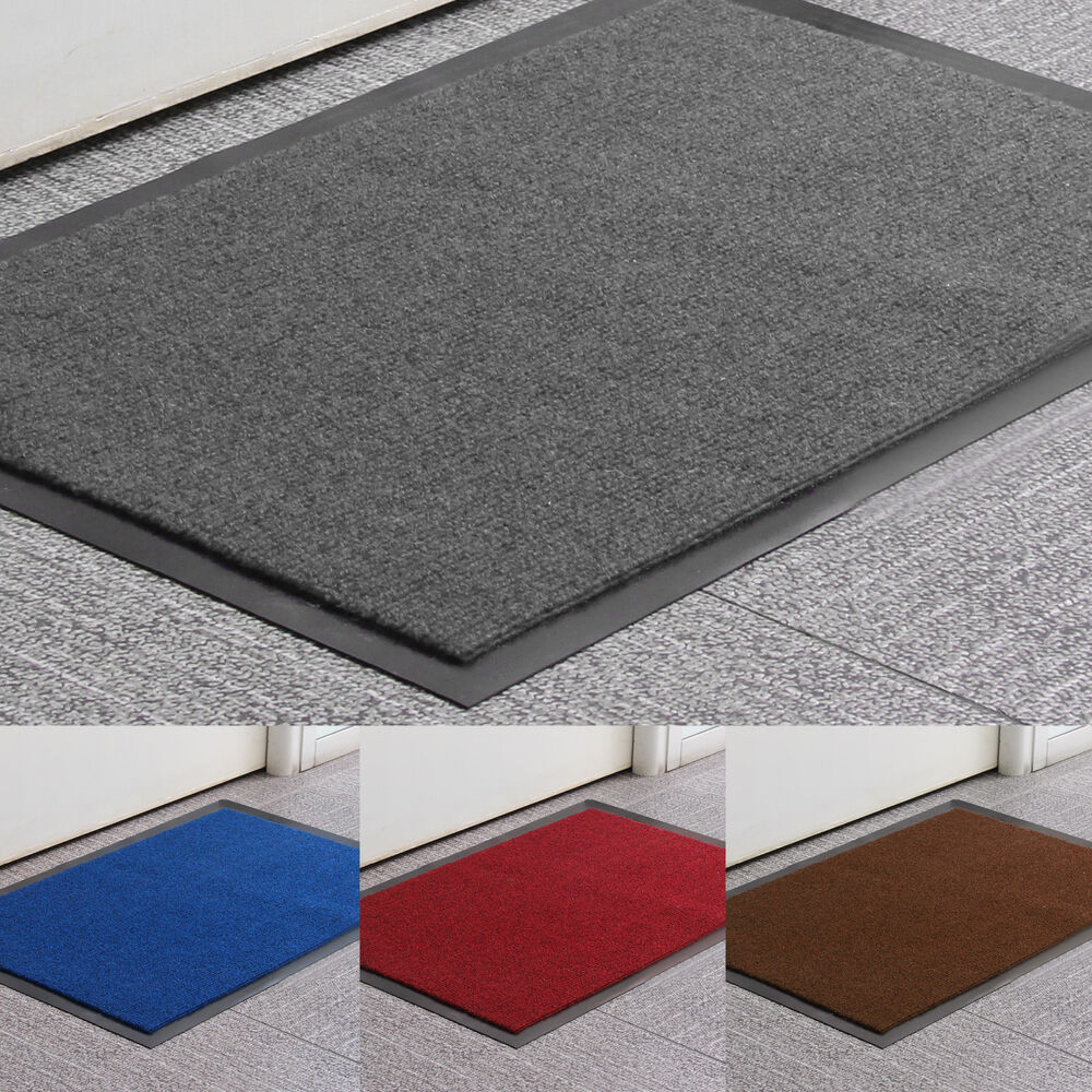 heavy duty non slip rubber barrier mat large small rugs back door hall kitchen ebay. Black Bedroom Furniture Sets. Home Design Ideas