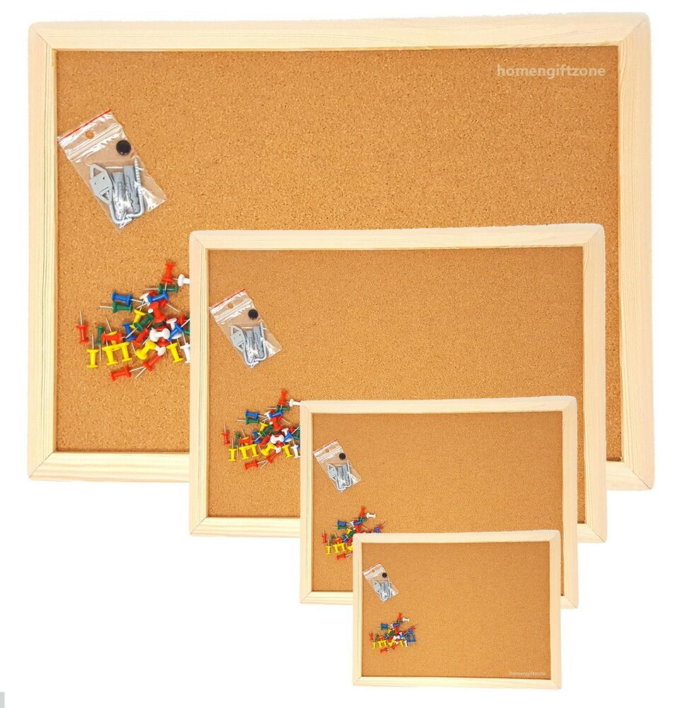office cork boards. Cork Board Pin Message Notice Wooden Frame Pinboard Push Office School Boards E