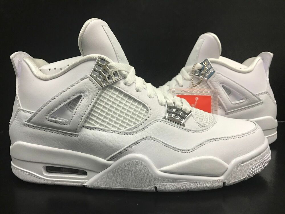 White Retro: Nike Air Jordan 4 Retro White Silver Pure Money 308497 100