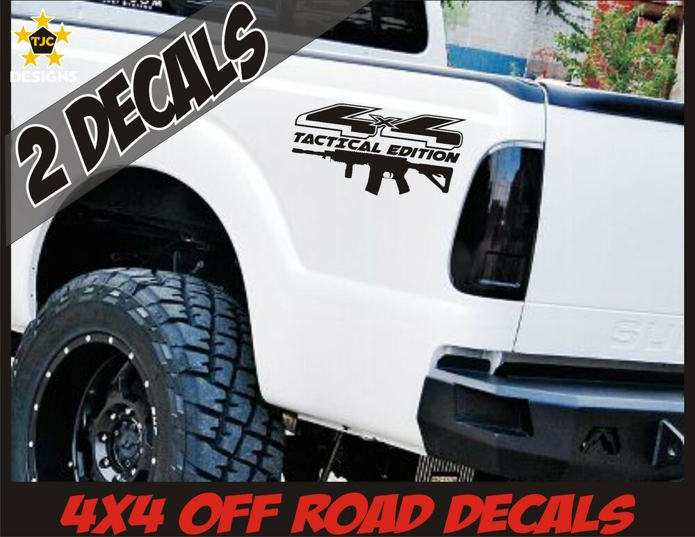4x4 Truck Bed Decal Set Gloss Black Ford F150 Super Duty