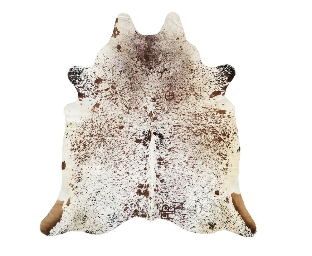 New Brazilian Cowhide Rug Leather Salt And Pepper 6 X6