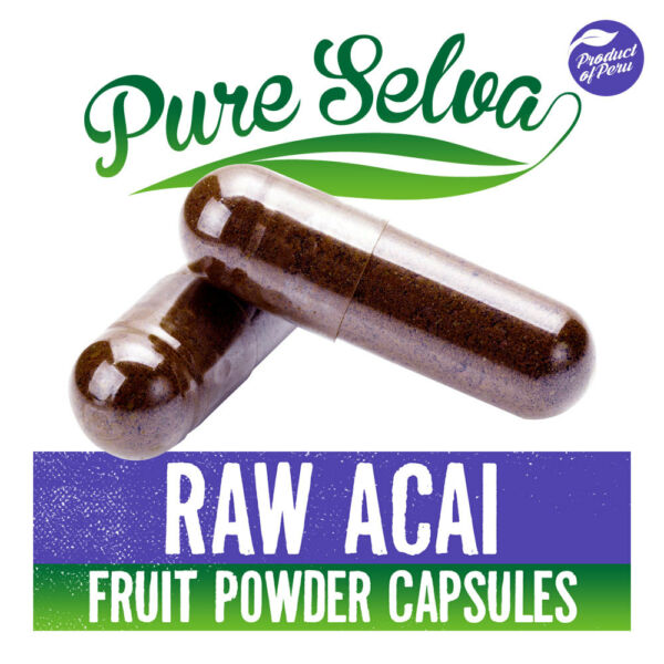 ACAI BERRY CAPSULES / 100% raw diet supplement / anthocyanin / weight loss
