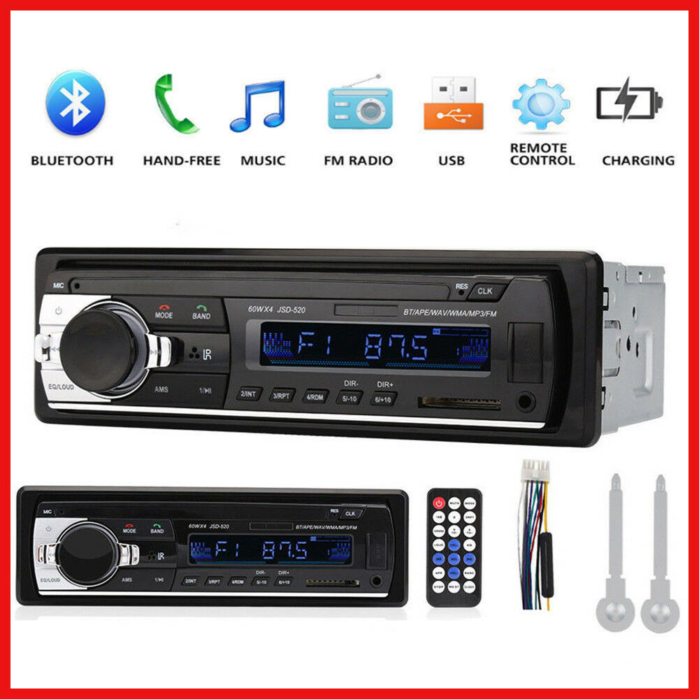 car stereo audio bluetooth in dash fm aux input receiver. Black Bedroom Furniture Sets. Home Design Ideas