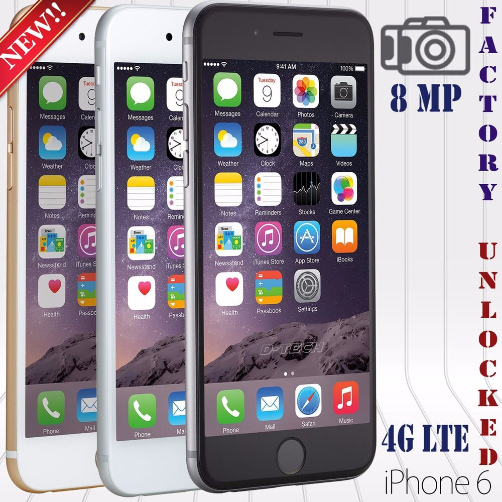 apple iphone 6 6 16 64 128 gb a factory unlocked phone lte hd ebay. Black Bedroom Furniture Sets. Home Design Ideas