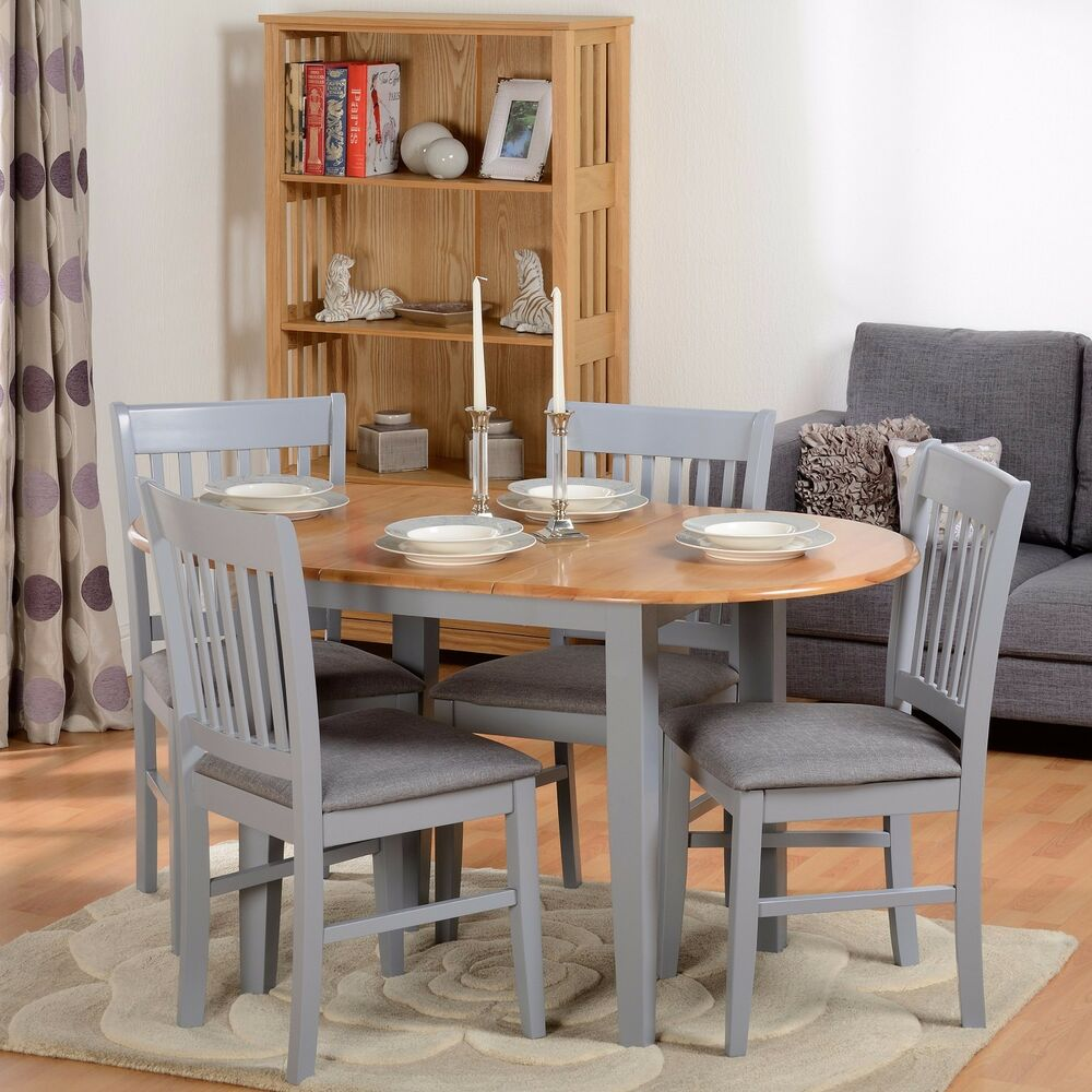 Breakfast Bar 5Pcs Dining Set Extending Table Chairs
