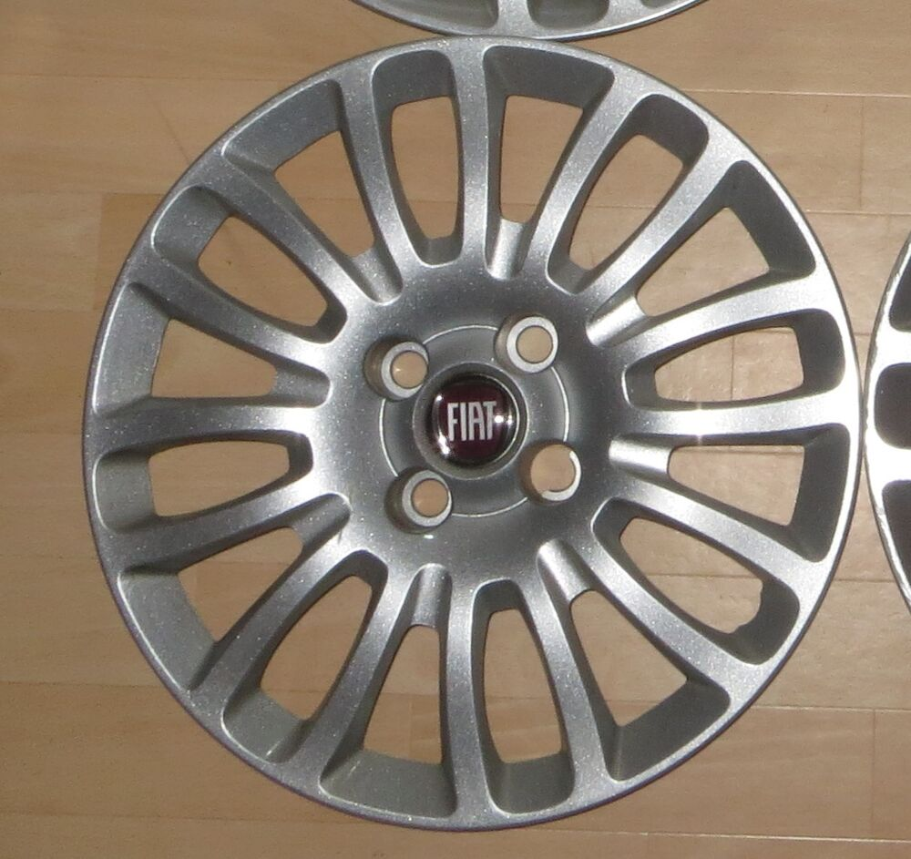 4 fiat radkappen radabdeckung satz wheel cover stampo a 15 silber 735481016 ebay. Black Bedroom Furniture Sets. Home Design Ideas