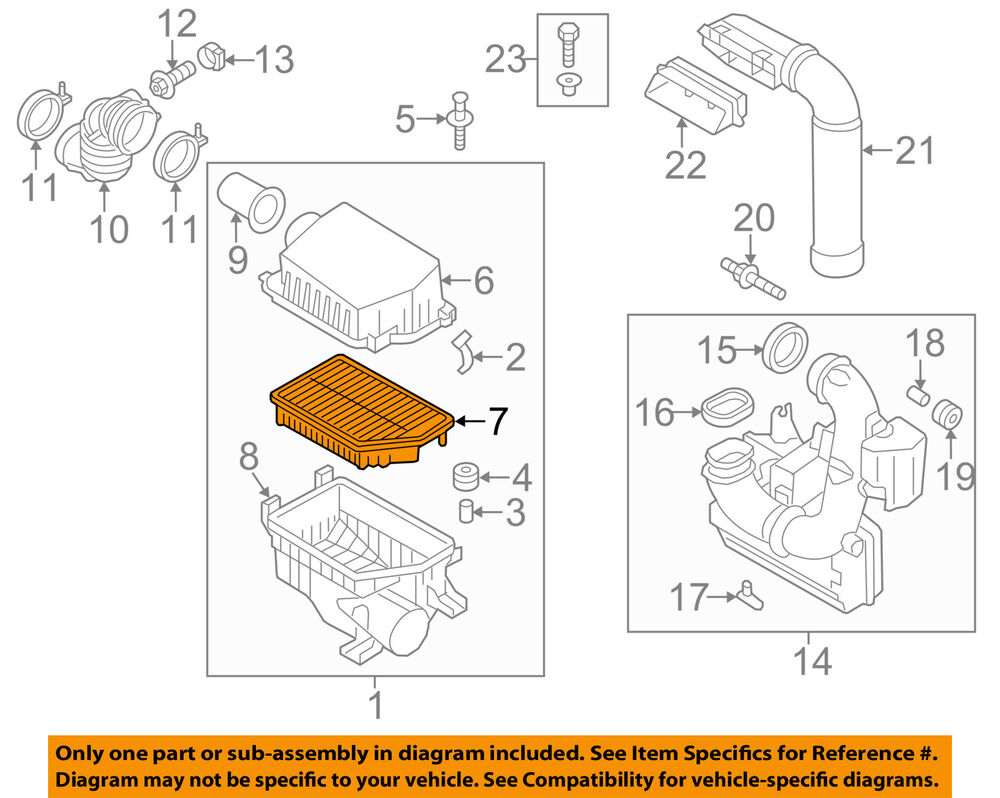 Hyundai Oem 11 15 Elantra Engine Air Filter Element 281133x000 2011 Diagram 688934679181 Ebay