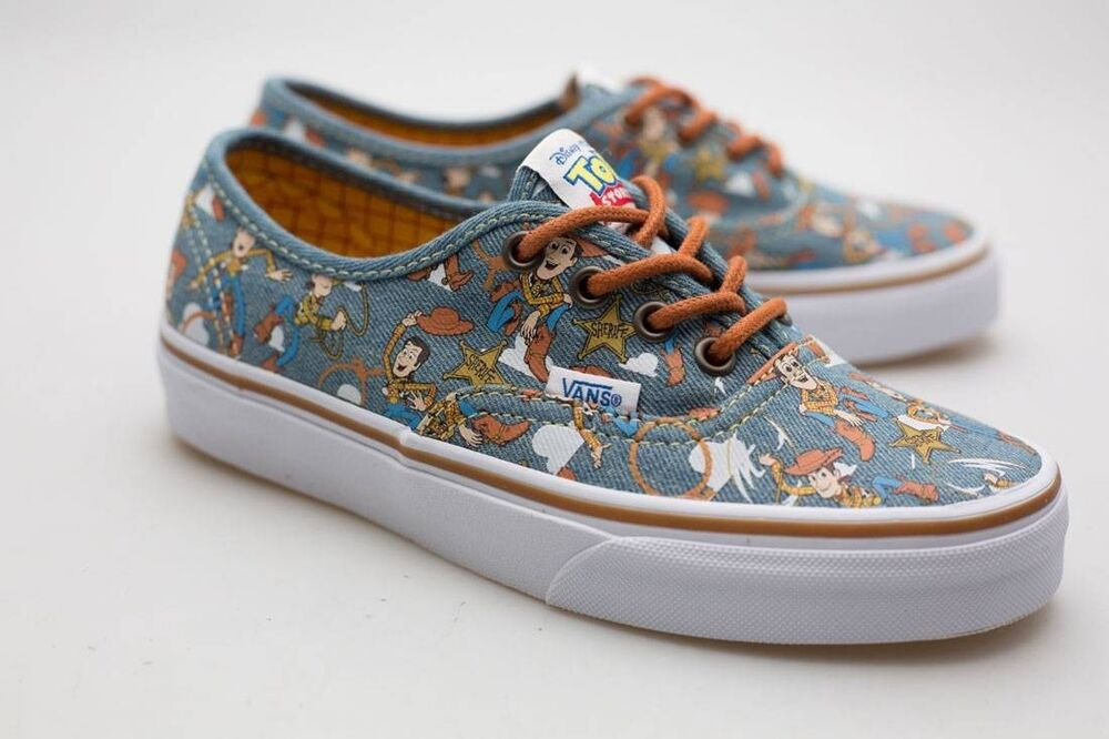 9290a4e029 Details about Vans x Disney Pixar Toy Story Men Authentic - Woody brown  white VN048AM4Z